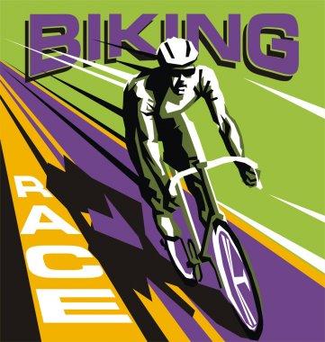 Colorful Biking race vector template