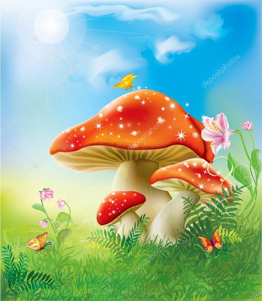 red magic mushrooms
