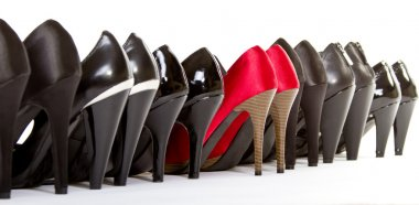 High heels in different colours,