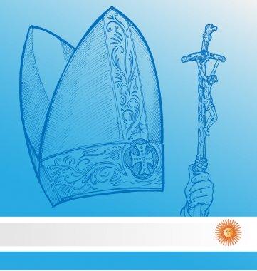 Vatican symbolS with argentina flag