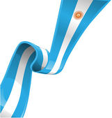 Argentina ribbon flag