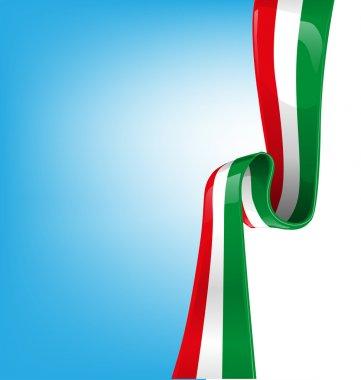 Sky background with flag italian