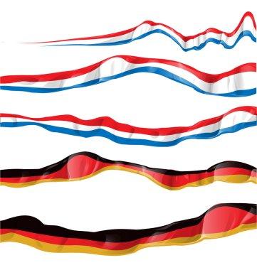 France and germany flag set