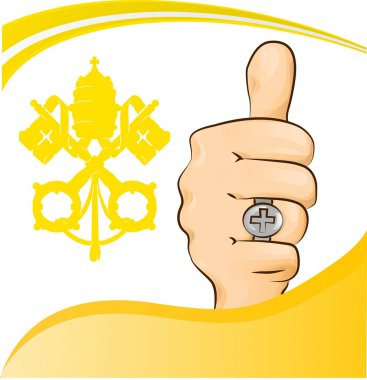 Pope thumb-up symbol