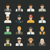 icona di persone, professioni icone, operaio insieme