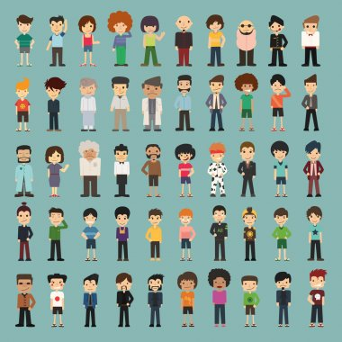 Group cartoon people , eps10 vector format clip art vector