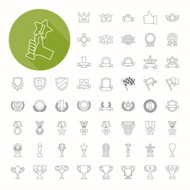 Prizes & Awards icons , thin icon design , eps10 vector format stock vector