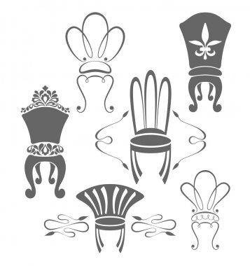 Vintage furniture symbols