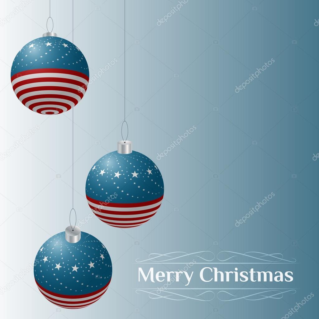 Patriotic theme Christmas card — Stock Vector © Zubroffka #14117670