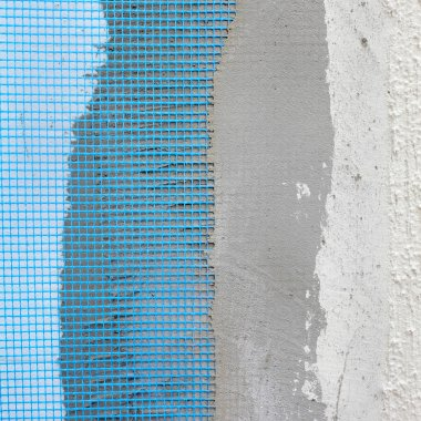 Home renovation, mortar over polystyrene insulation