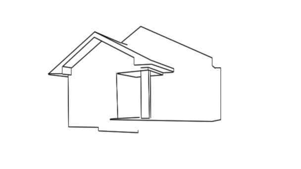 Disegno Di Una Casa Video Stock C Malekas 24200357