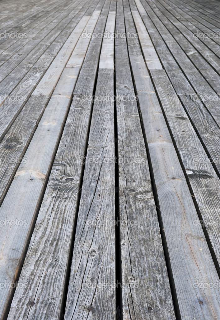 pavimento terrazza in legno grigio invecchiato — Foto Stock ...