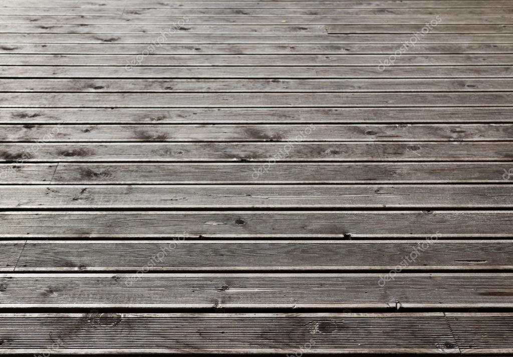 Pavimento Terrazza Esterna In Legno Grigio Foto Stock