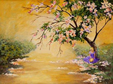 """Картина, постер, плакат, фотообои """"цветущее дерево """", артикул 15569635"""