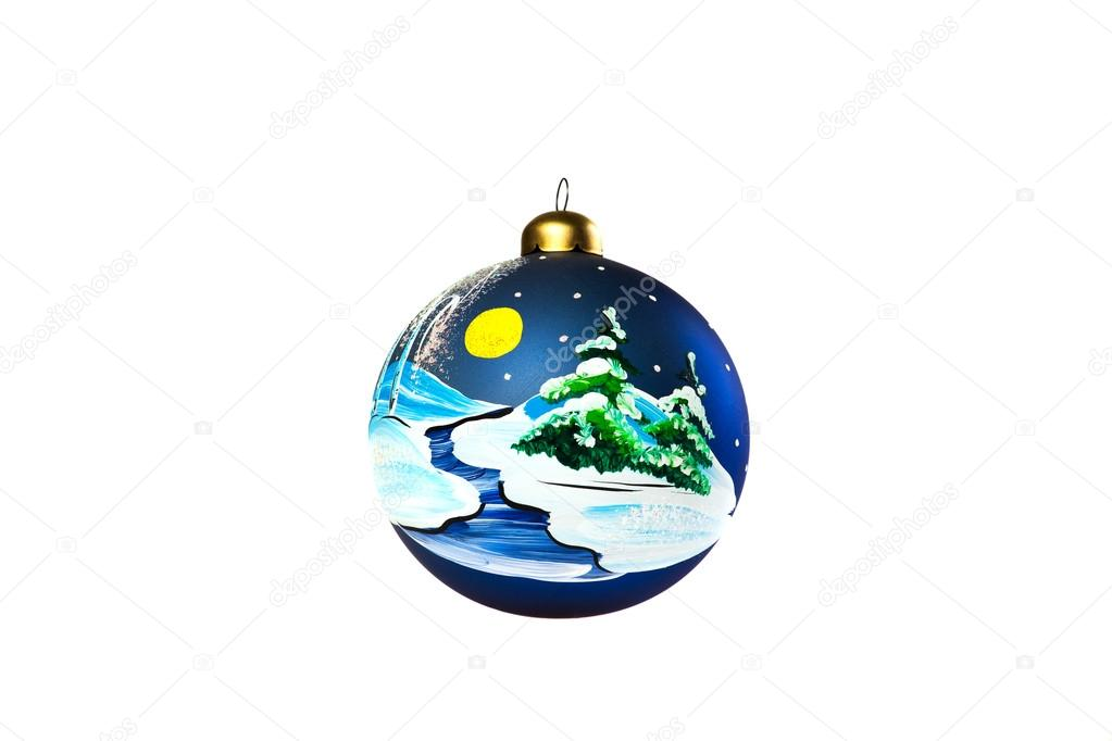 Handbemalte Christbaumkugeln.Handbemalte Christbaumkugeln Glas Kugel Stockfoto Sergeyp 14155970