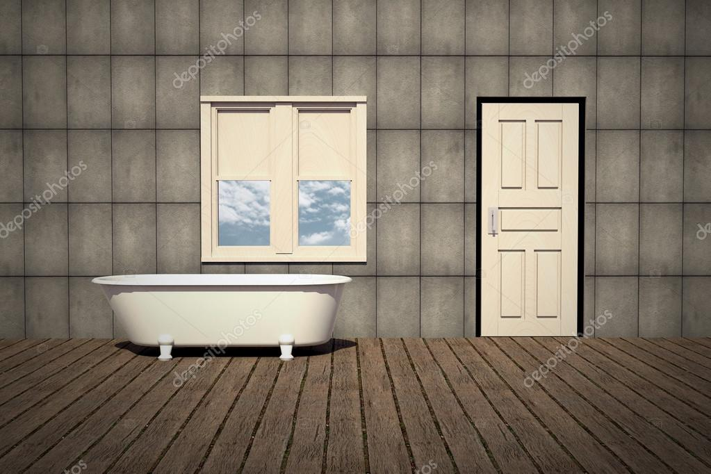 Old style bathtub in a retro bathroom — Stock Photo © siraanamwong ...