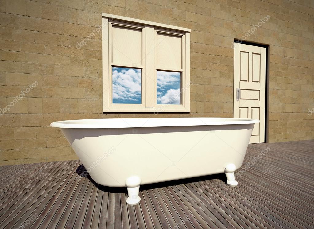 Nieuw stenen muur badkamer afbeelding van badkamer decor