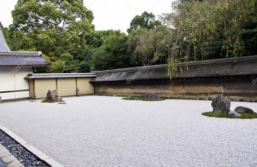 Jard n zen del templo ryoan ji en kioto jap n foto de for Fotos jardin zen
