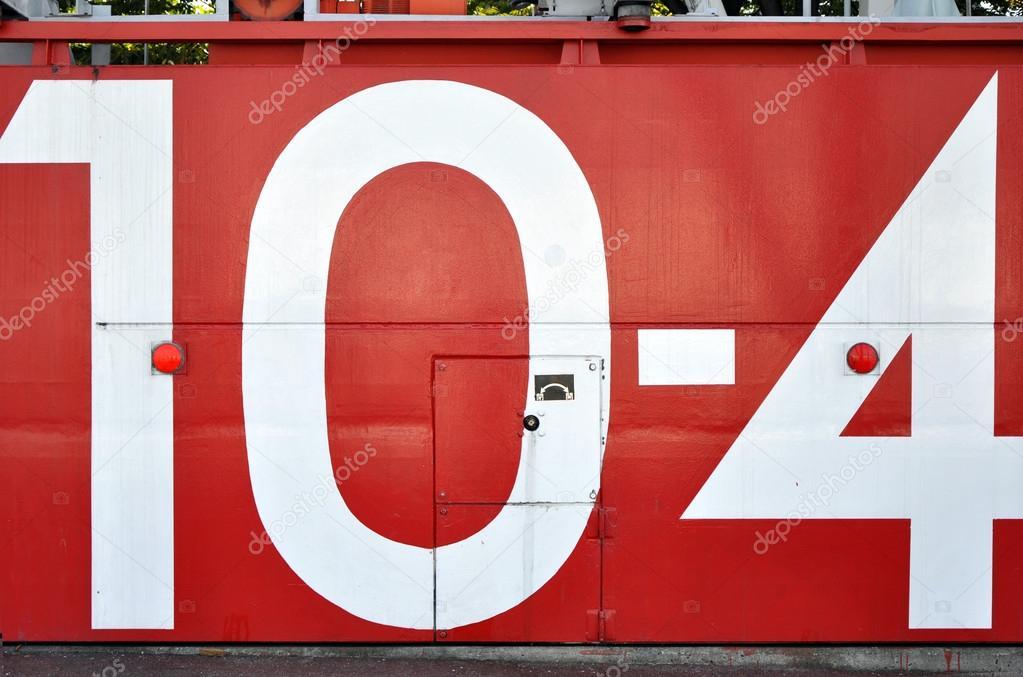 красный японского цунами водонепроницаемые двери с числом 10