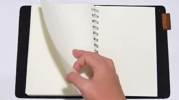 ruční otevřená kniha