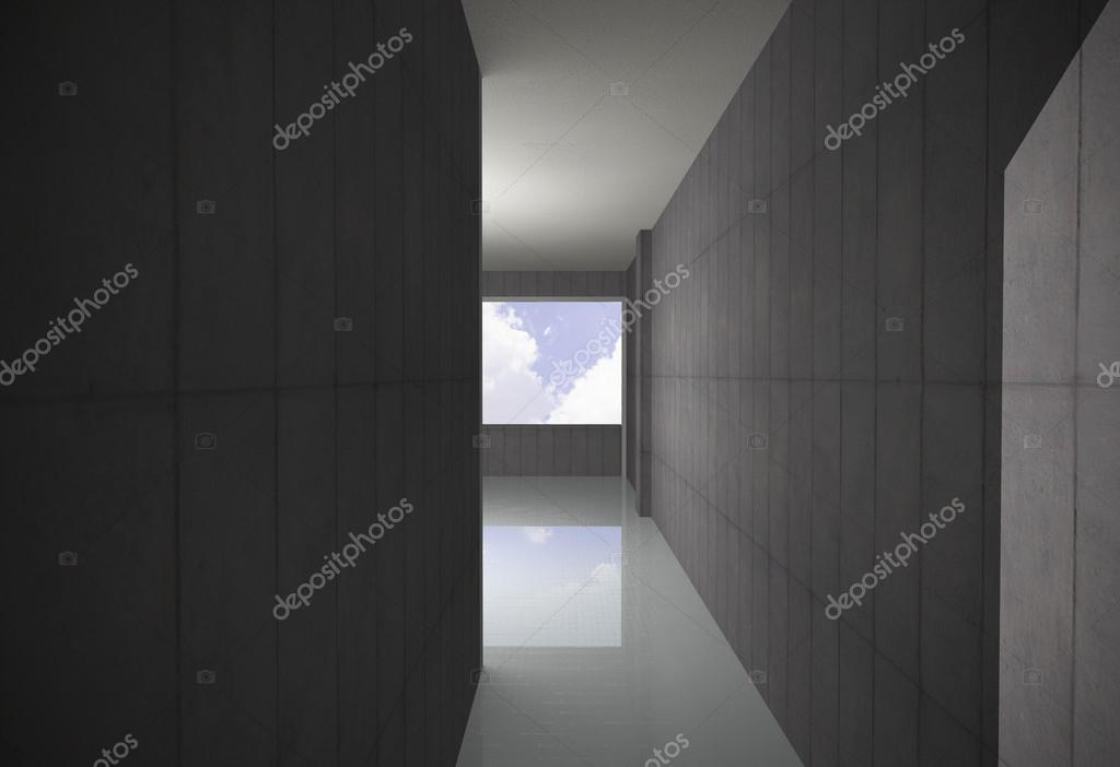 Lege blote concrete corridor u2014 stockfoto © siraanamwong #29761443