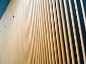 Fotografie fasády dřevěné fin