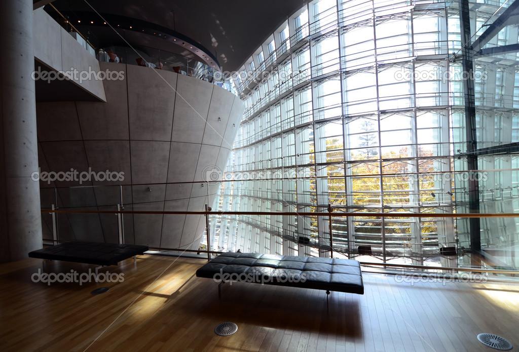 Moderne interieur van nationale art center tokio japan
