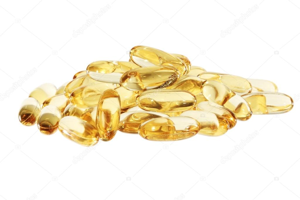 Cod Liver Fish | Cod Liver Fish Oil In Tablets Or Pills Horisontal Stock Photo