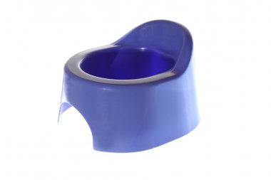 Blue potty isolated on the white background