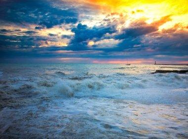 sea storm Sochi Russia