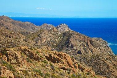 Andalusia coastal landscape. Parque Cabo de Gata, Almeria.