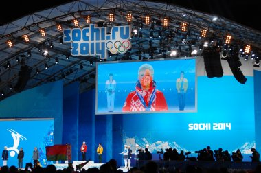 Medal ceremony at XXII Winter Olympic Games Sochi 2014