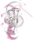 hudební nástroj. vektorové ilustrace
