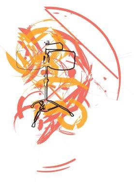 Abstract drum illustration