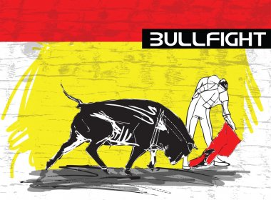 bullfight illustration