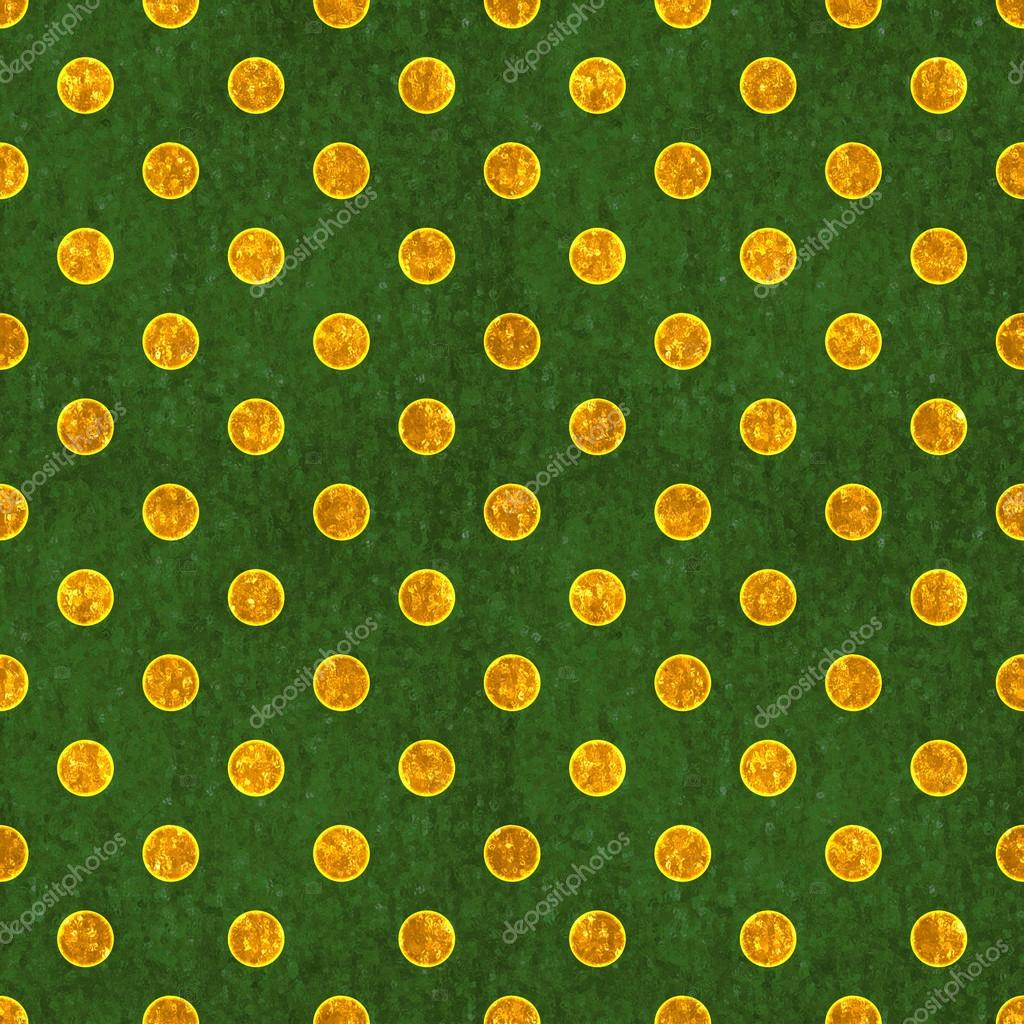 Seamless Green Gold Polka Dot Stock Photo C Songpixels 12732539