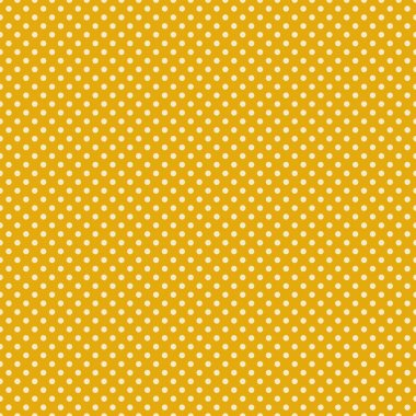 Small cream or off white polka dots on golden yellow background stock vector