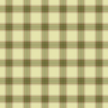 Seamless plaid in soft tones of green with terra cotta accents. stock vector