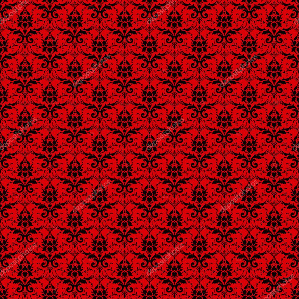 Red and Black Damask