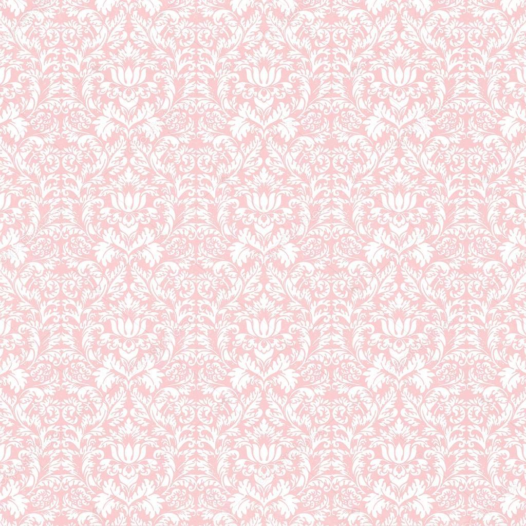 White Damask Pattern On Pastel Pink Photo By Pixels
