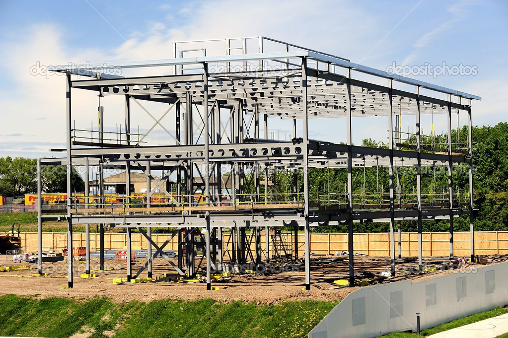 Stahlrahmen-Gebäude — Stockfoto © drewrawcliffe #49771593