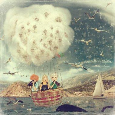 Children in Balloon