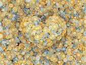 Fotografie srdce z květů Heřmánek