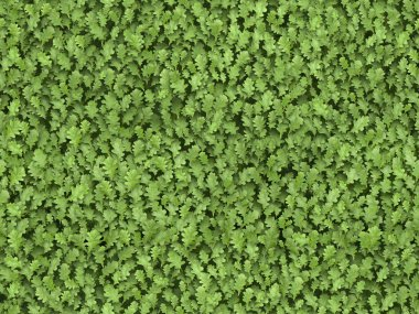 Seamless green leaves tiled texture pattern