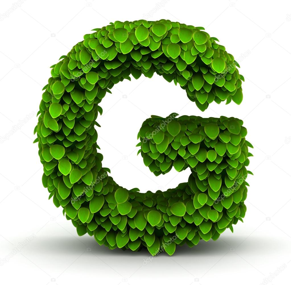 Leaves Font Letter G Stock Photo Iunewind 29210927