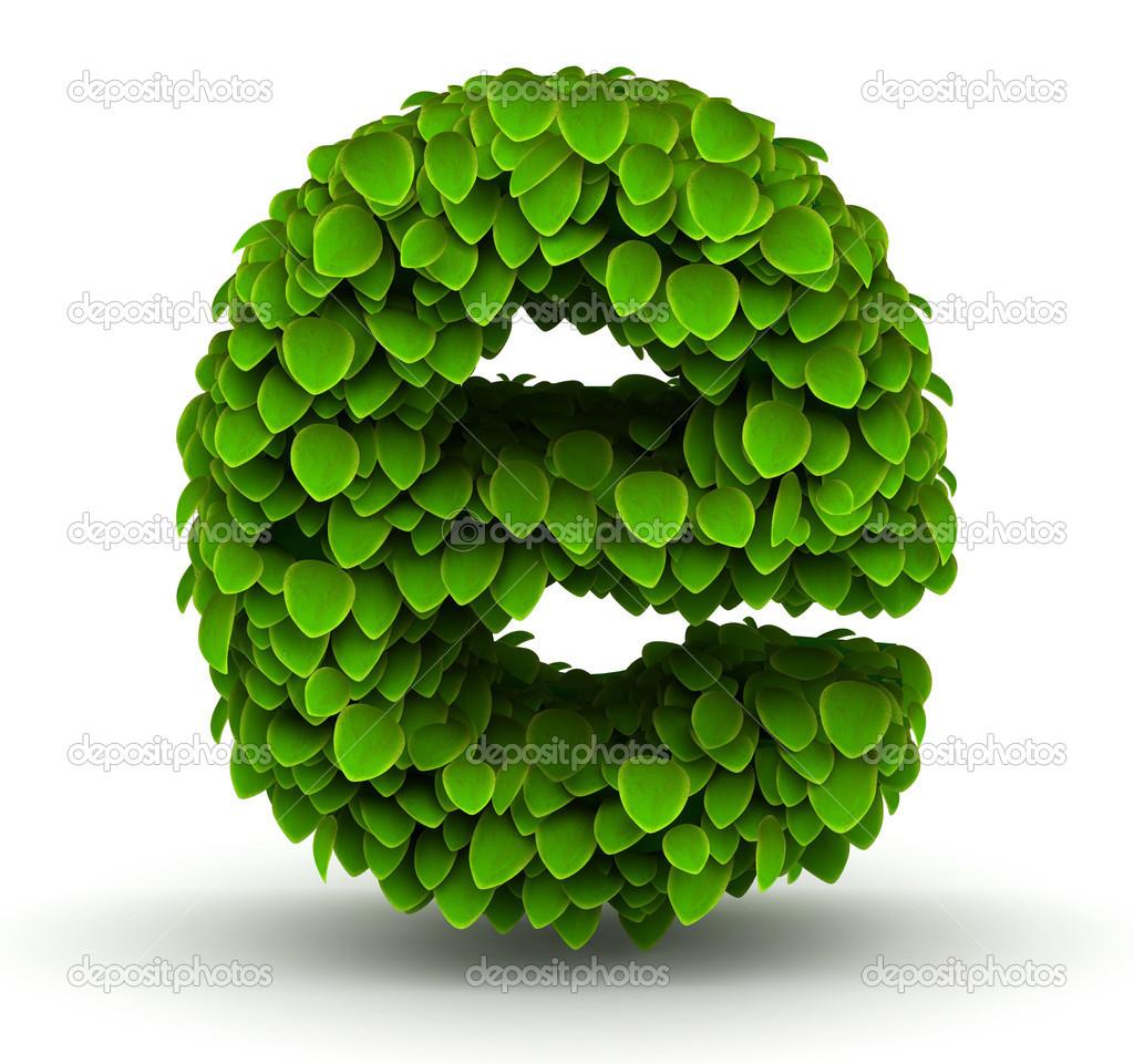 leaves font letter e lowercase u2014 stock photo iunewind 29211309