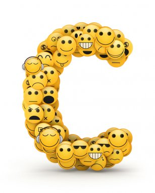 Emoticons letter C