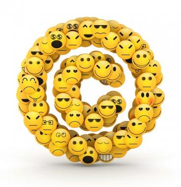 Emoticons copyright symbol