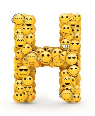 Emoticons letter H