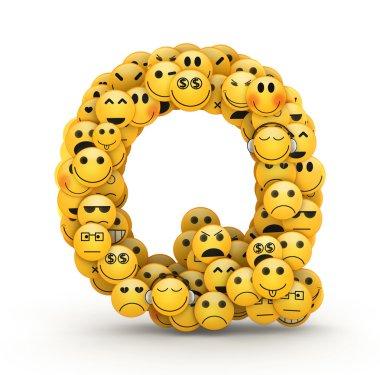 Emoticons letter Q
